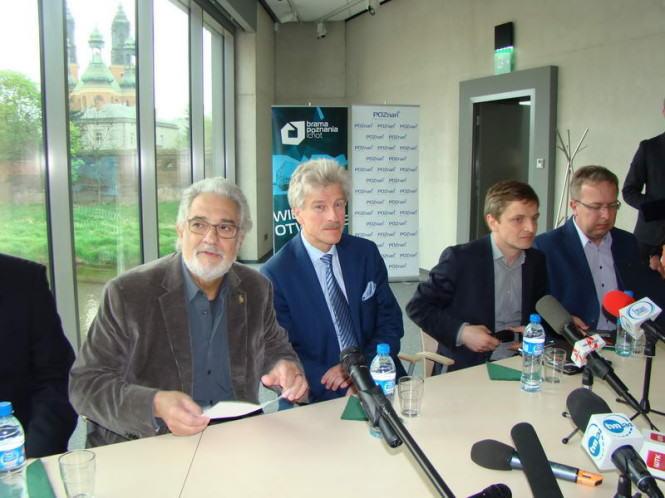Placido Domingo na konferencji prasowej w Poznaniu