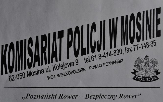"""Znakowanie rowerów w ramach akcji """"Poznański Rower - Bezpieczny Rower"""""""