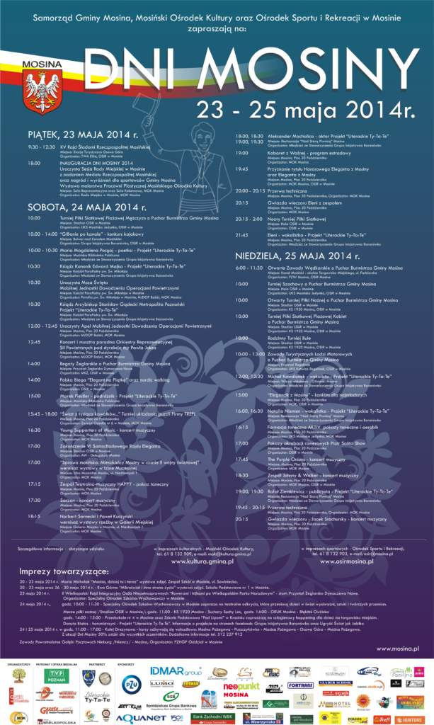 Dni Mosiny 2014 - program