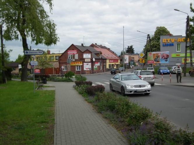 stare skrzyżowanie - w tym miejscu znajduje się rondo Pinezka