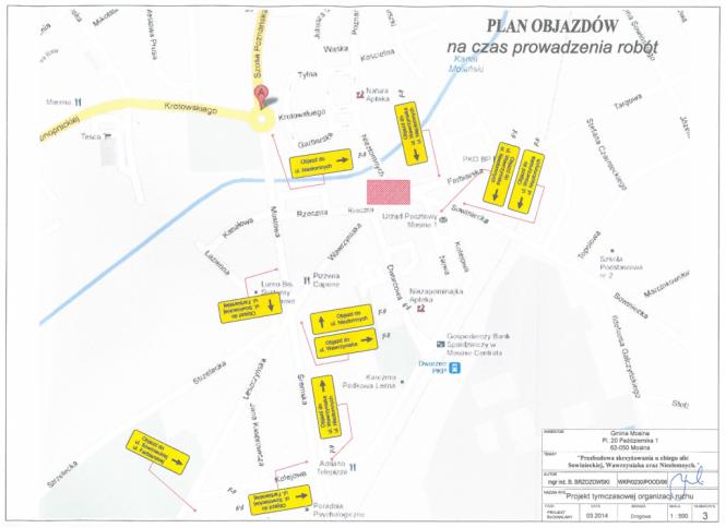 plan objazdów