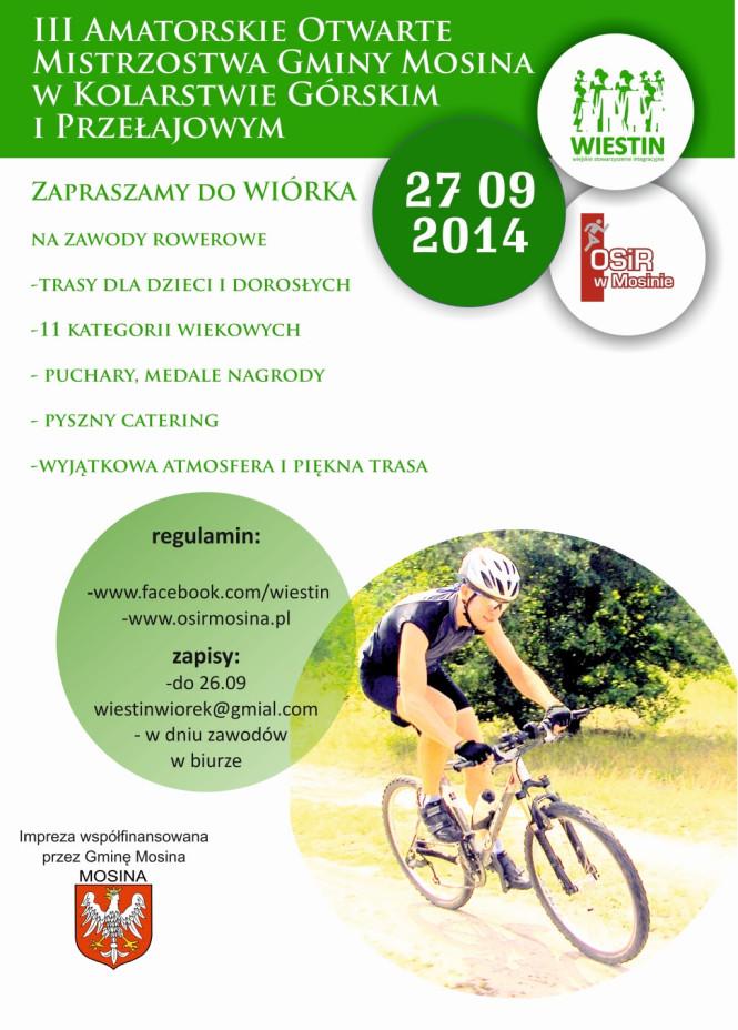 Otwarte Mistrzostwa Rowerowe Gminy Mosina - plakat