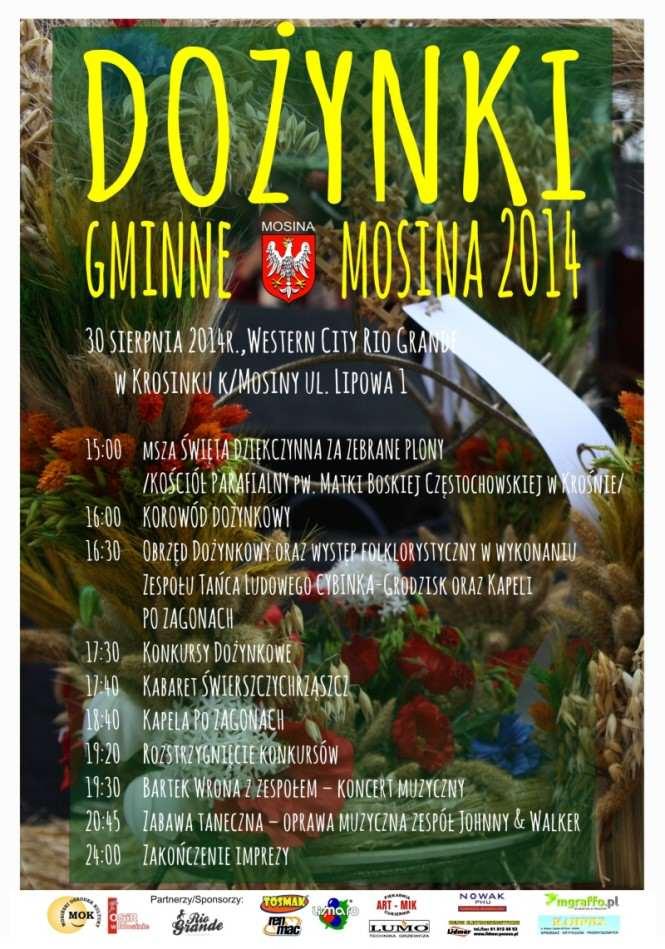 dożynki 2014 plakat