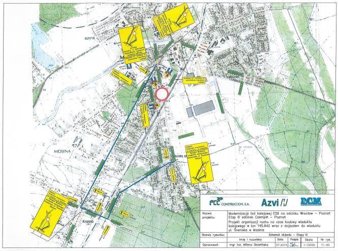 plan objazdów w związku z zamknięciem przejazdu