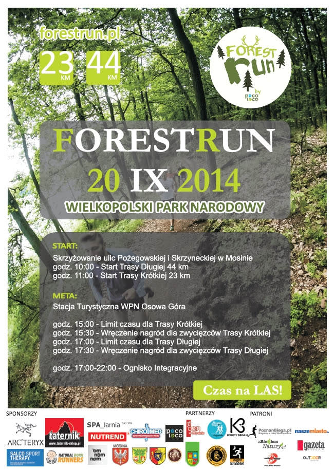 Bieg Forest Run - plakat