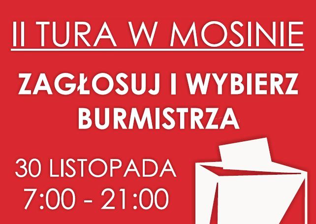 wybory na Burmistrza Gminy Mosina