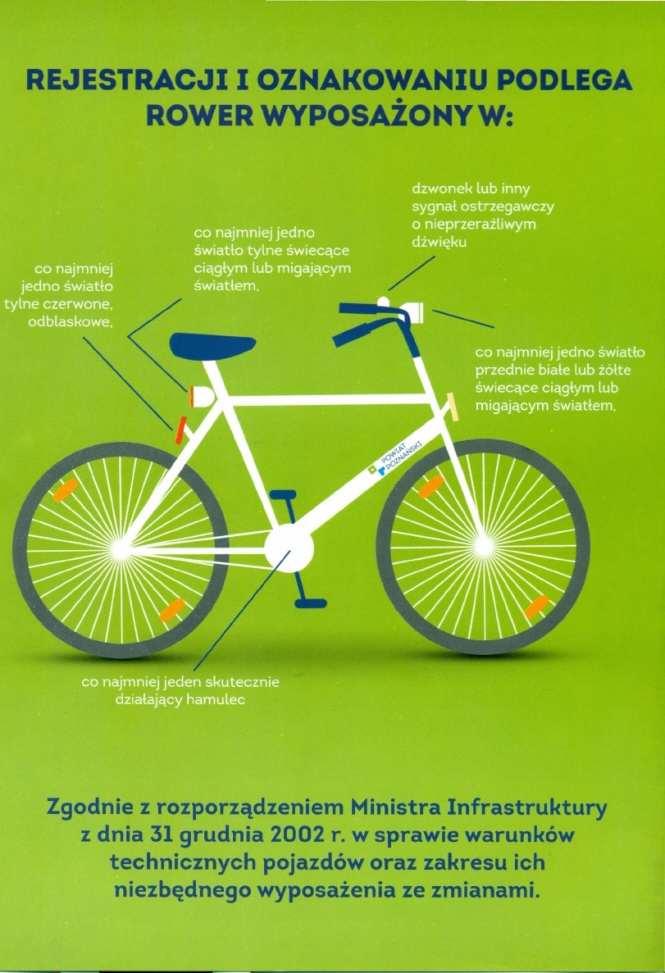 rower oznakowany, rejestrowanie