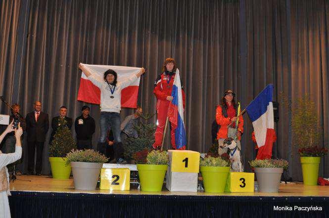 Krystyna Jasiczak na podium