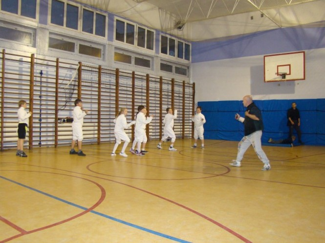 sekcja szermierki przy zespole szkół nr 2 w Mosinie