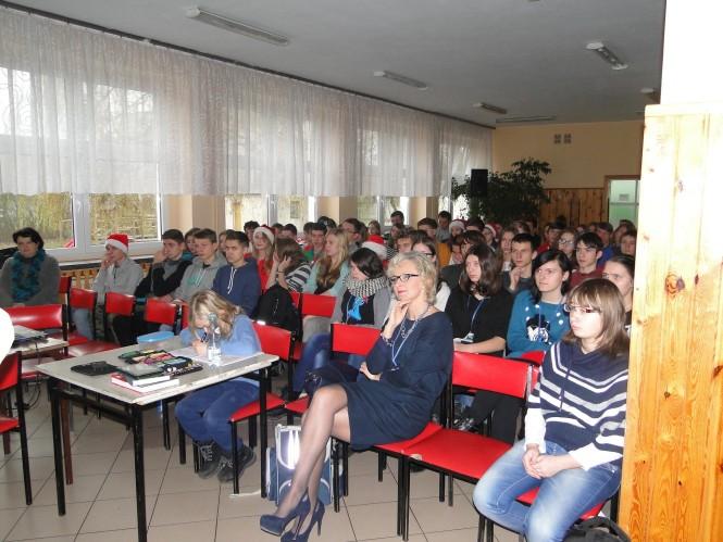 Uczniowie Gimnazjum nr 1 w Mosinie