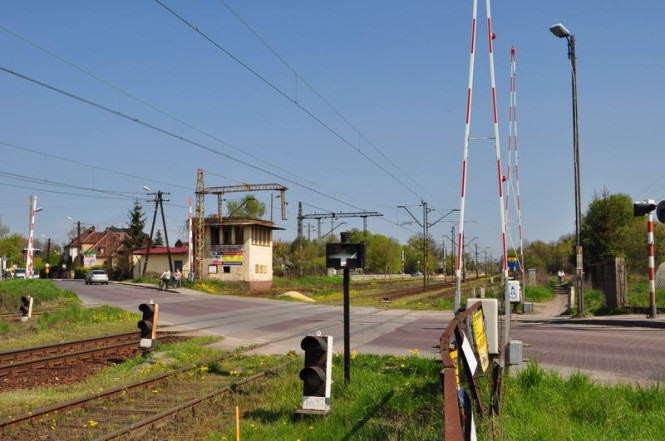 ul. Śremska Mosina - przejazd kolejowy przed remontem