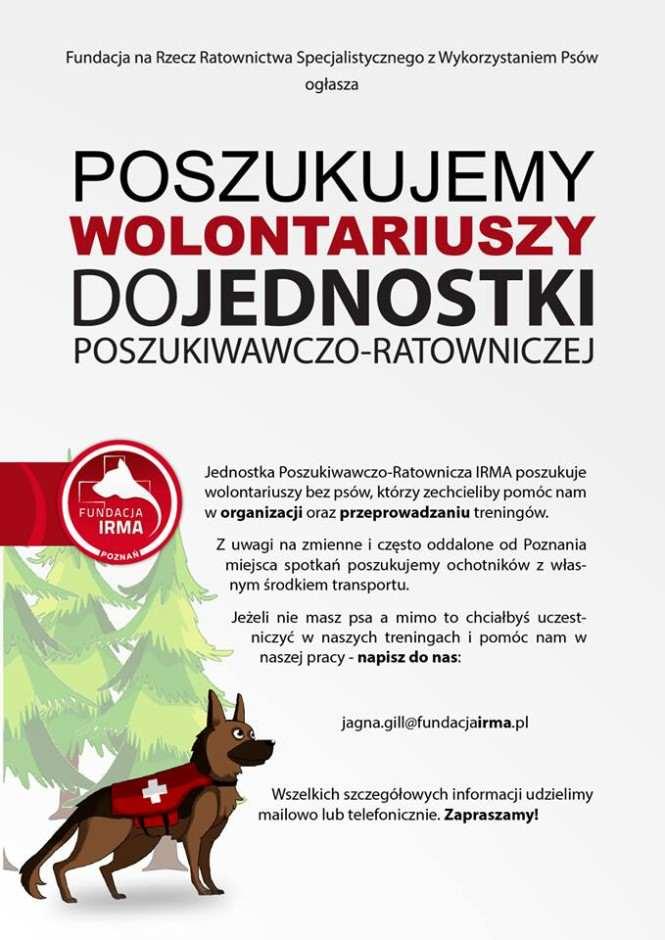 plakat poszukiwanie wolontariuszy