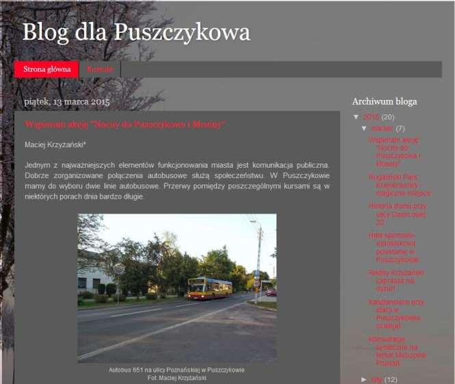 Blog dla Puszczykowa