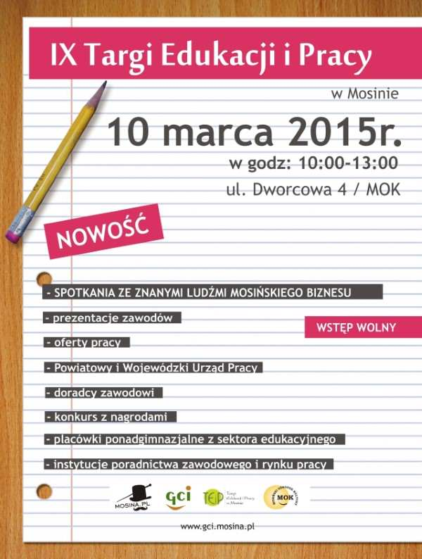 plakat targi pracy Mosina