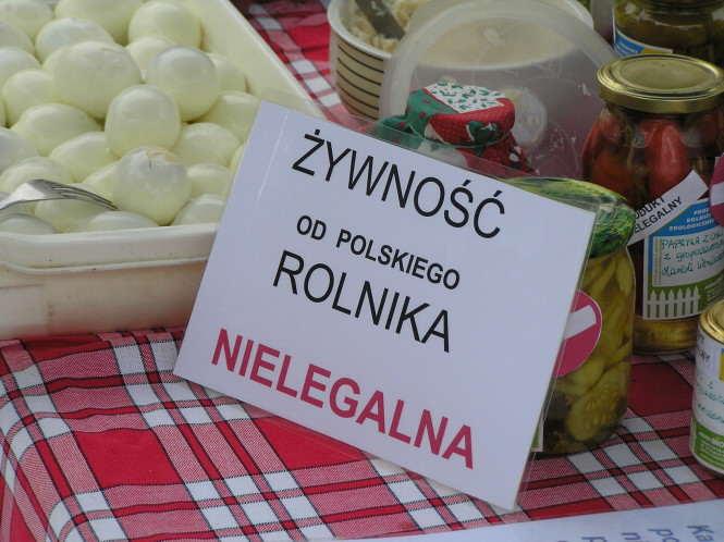 żywność od polskiego rolnika - nielegalna