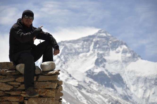 B. Wróblewski w górach Himalajach