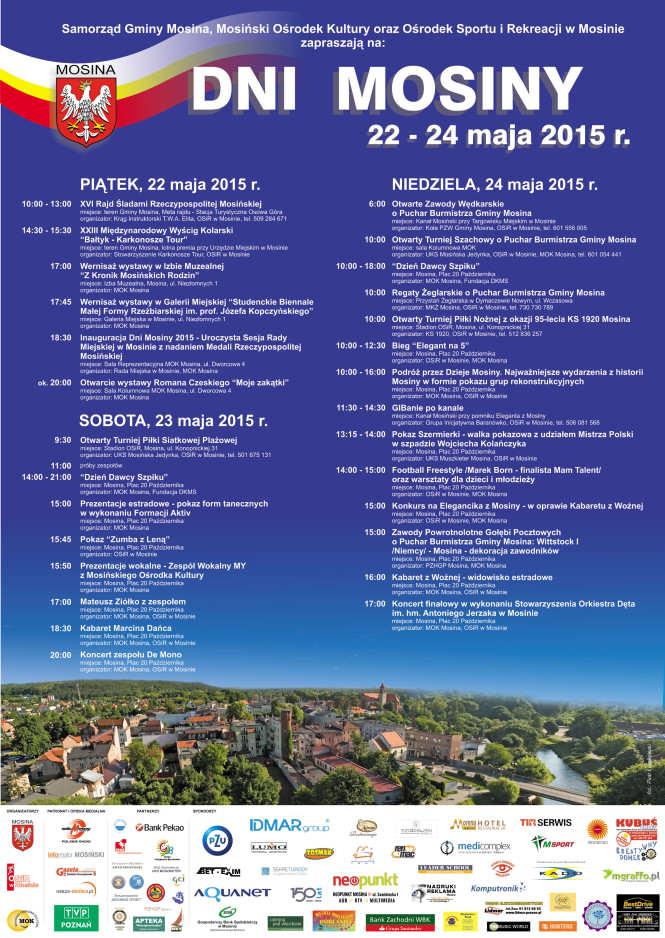 dni Mosiny 2015 plakat, kalendarium, program