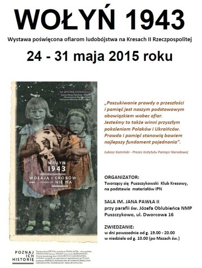 wystawa Wołyń 1943