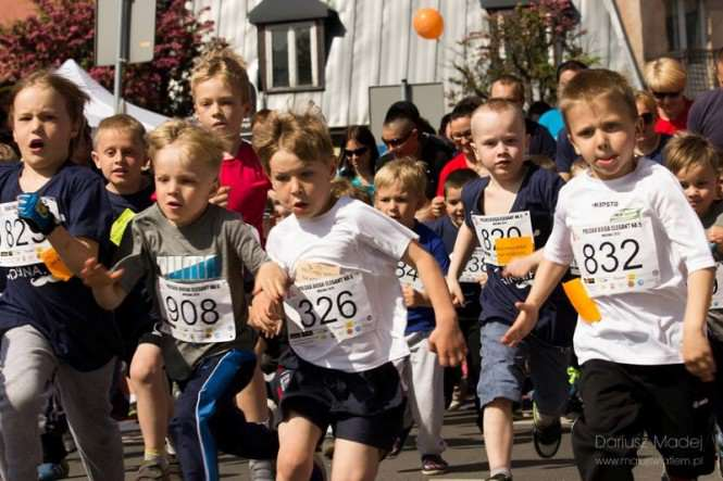 Dni Mosiny - dzieciaki biegają