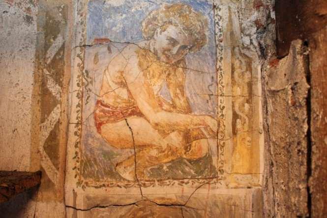 dziewczyna uwieczniona przez Hieronima na fresku