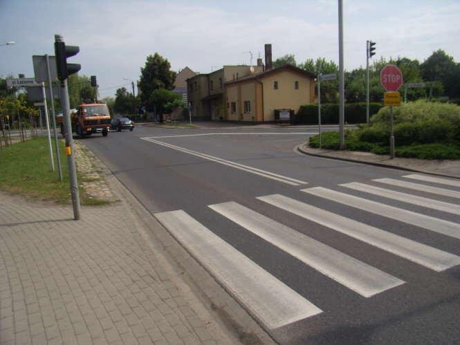przejście dla pieszych w Mosinie - Leszczyńska