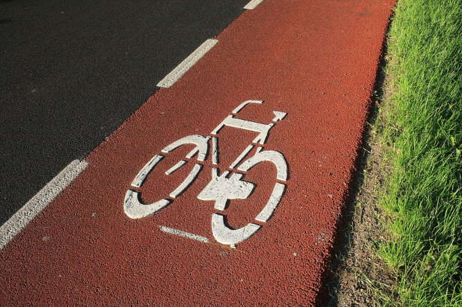 ścieżka rowerowa - pas dla rowerów
