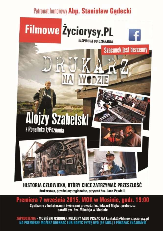 """projekt realizacji filmu """"DRUKARZ NA WODZIE"""" - Plakat MOK"""