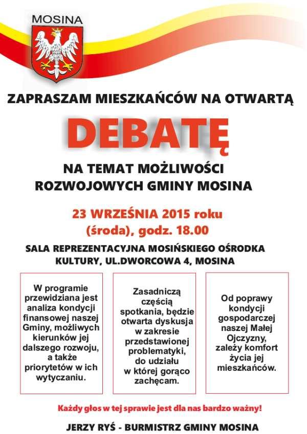 debata na temat możliwości rozwojowych Gminy Mosina