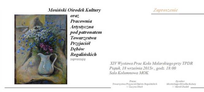 zaproszenie na wystawę MOK