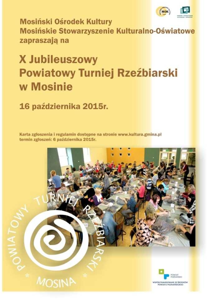 plakat turniej rzeźbiarski Mosina 2015