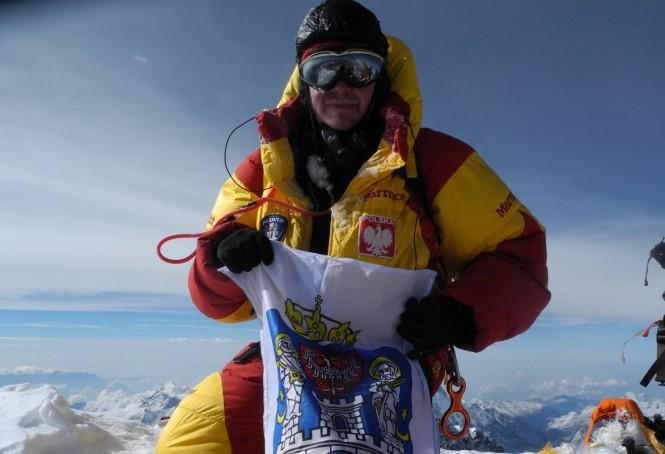 Barłomiej Wróblewski na szczycie Everestu Pn, 25.V.14r.