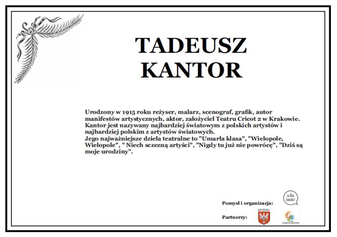Żyje Tadeusz Kantor