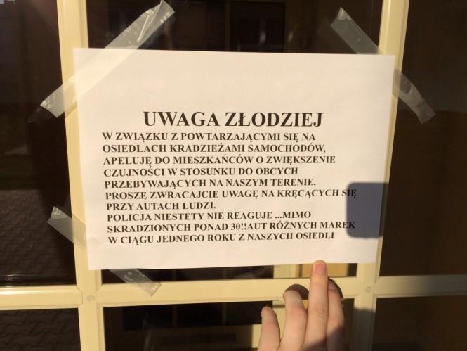 Uwaga złodziej - kradzieże samochodów w gminie Mosina
