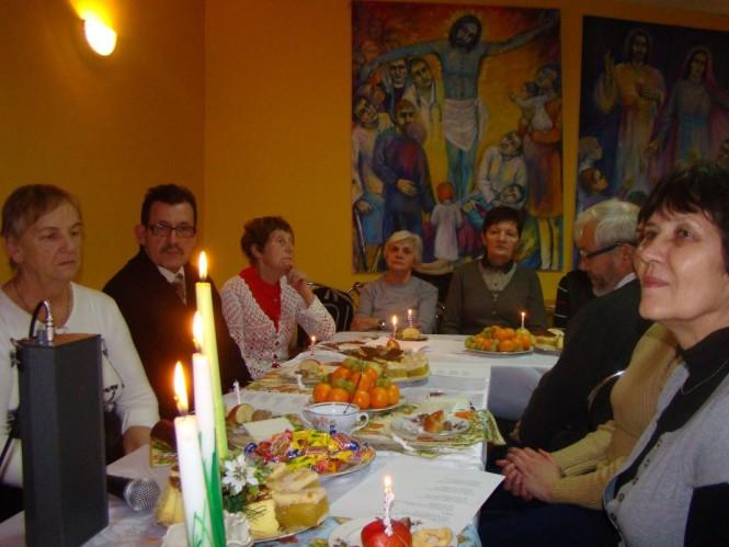Wigilia w Oborach - przy stole