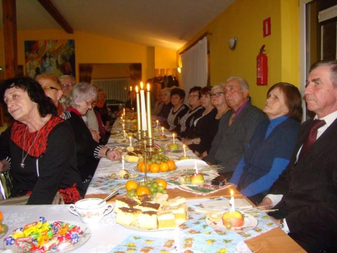 Wigilia w Oborach - przy świątecznym stole