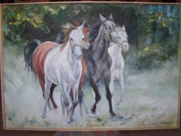 Awangarda maria Silska konie, olej na płótnie (Custom)