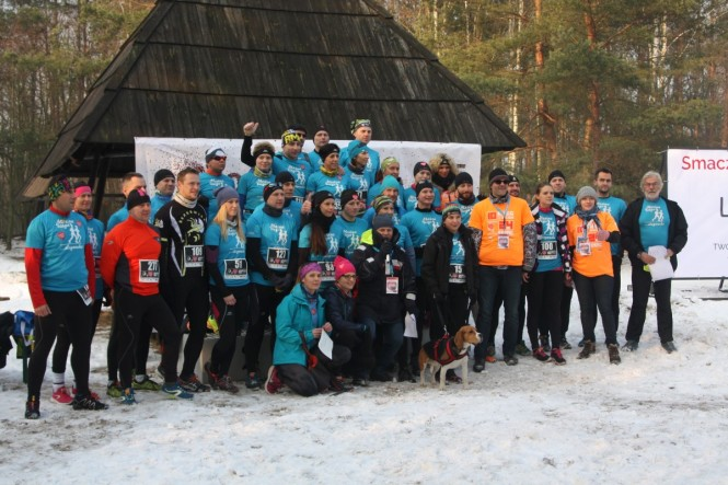 uczestnicy - II Bieg Zimowy po Wielkopolskim Parku Narodowym