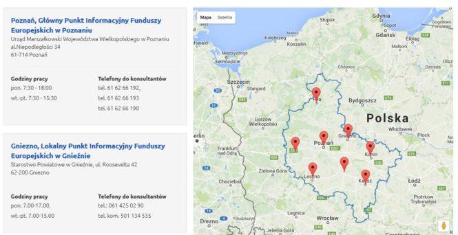 Punkty Informacyjne - Serwis Wielkopolskiego Regionalnego Programu Operacyjnego