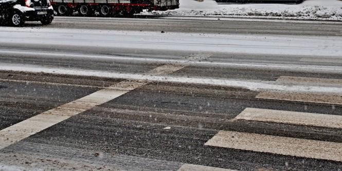 lód śnieg drogi