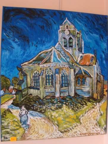 Galeria - B. Zaporowska, Kościół - kopia Van Gogha, technika olejna, 520 zł. (Custom)