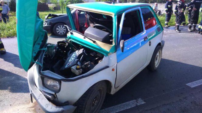 fiat126p po wypadku w Drużynie