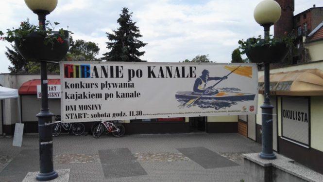 Gibanie po kanale mosińskim - Dni Mosiny 2016