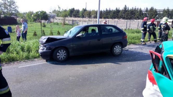 Opel Astra po wypadku w Drużynie