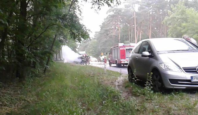 pożar samochodu Mosina WPN