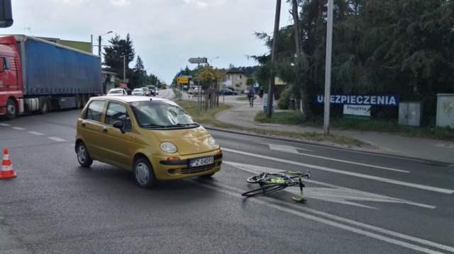 wypadek na skrzyżowaniu ulic Śremskiej i Wawrzyniaka