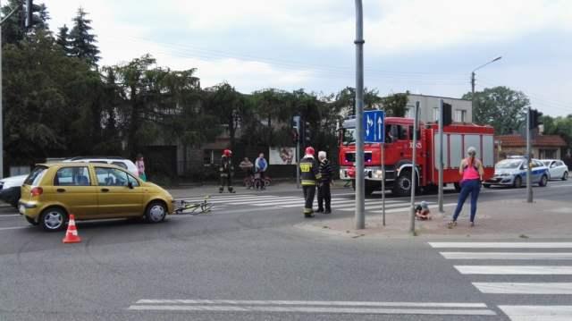 wypadek z udziałem rowerzysty
