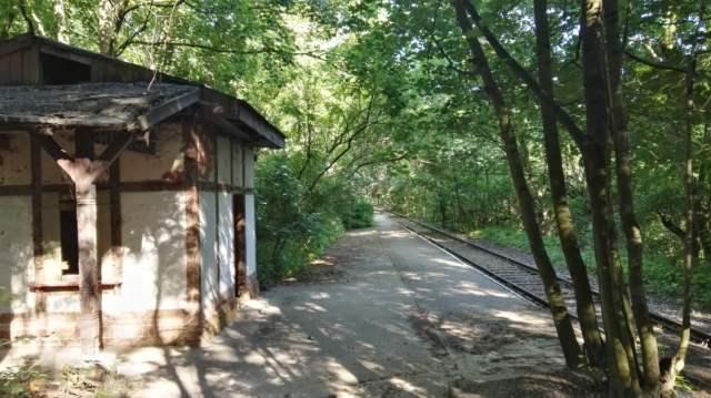 Osowa Góra - dawna stacja kolejki wąskotorowej
