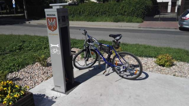 stacja rowerowa Mosina osiedle za Moreną