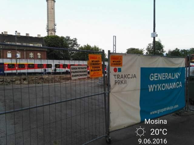 ul kolejowa w Mosinie - remont torów