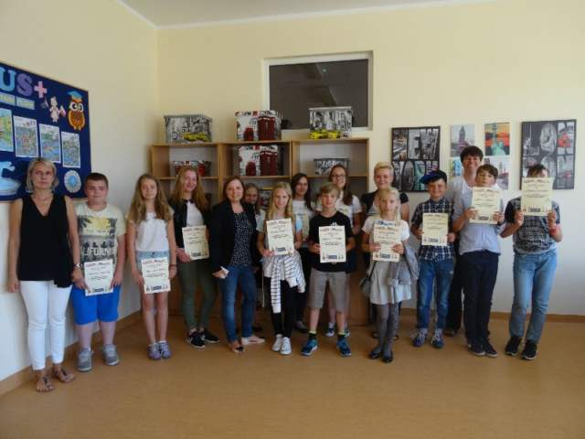 Gminny konkurs j. angielskiego w ZS w Krośnie